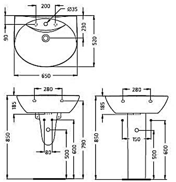 Высота установки раковины в ванной от пола, правила и стандарты установки смесителя и ванны