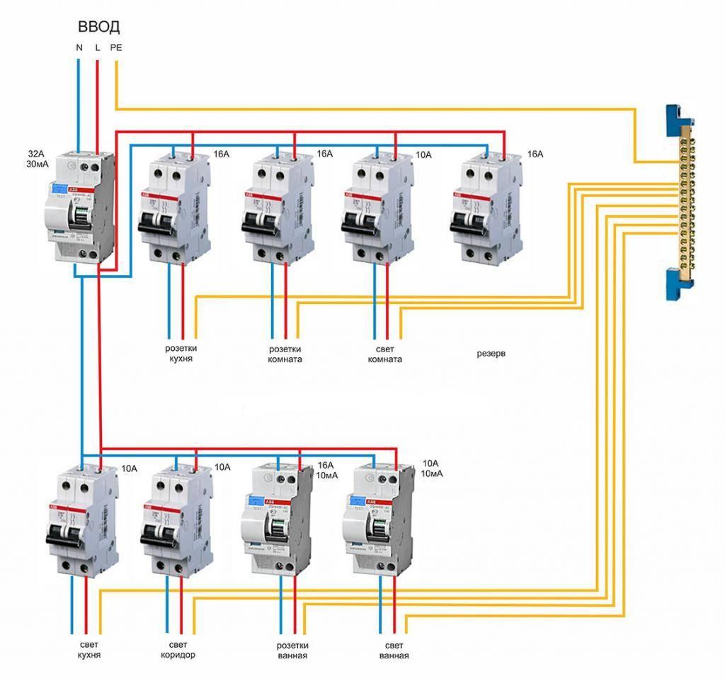 Двухполюсный выключатель: устройство и принцип действия автомата, схемы с нужным автоматическим аппаратом