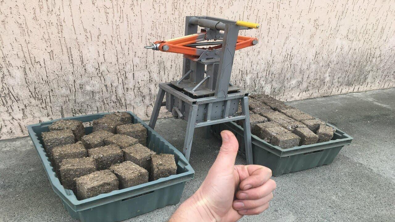 Прессованные опилки для отопления своими руками: создание станка, изготовление в домашних условиях