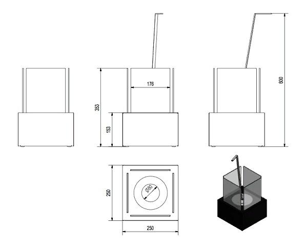 Биокамин своими руками: инструкция с размерами и чертежами