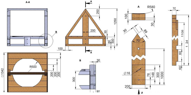 Как самому построить деревянный домик для колодца: лучшие идеи и порядок сооружения