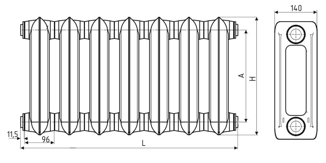 Радиатор мс-140-500: видео-инструкция по монтажу своими руками, особенности чугунных батарей, технические характеристики, цена, фото
