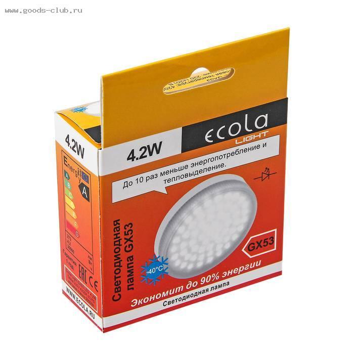 Светодиодные и энергосберегающие лампы ecola
