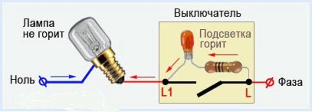 Выключатель с подсветкой: особенности монтажа одно- и двухклавишных выключателей
