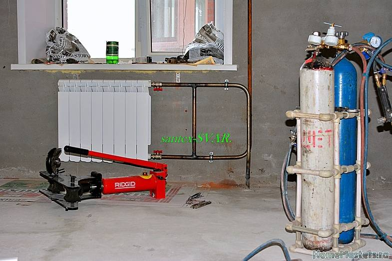 Замена батарей с помощью газосварки: разбор общей технологии и мелких нюансов