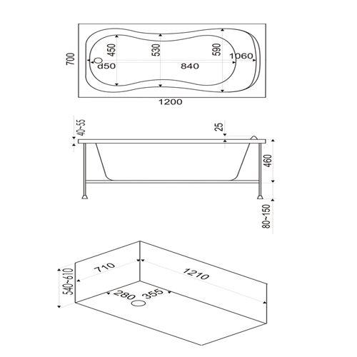 Стандартные размеры ванн и как выбрать подходящую