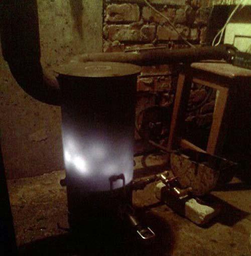 Чудо-печь для гаража на солярке своими руками