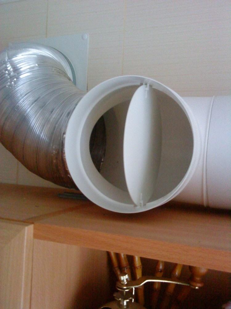 Естественная вентиляция с обратным клапаном - установка в доме