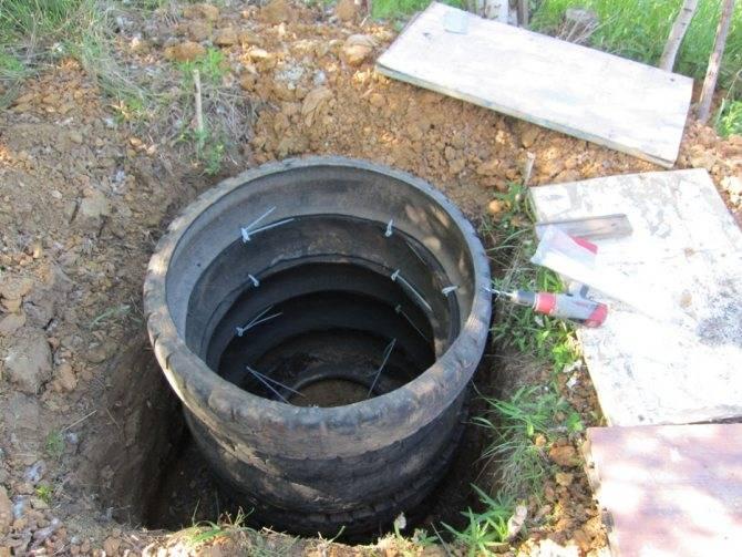Выгребная яма из покрышек своими руками-отзывы,секреты строительства