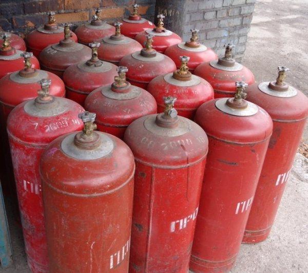 Газовый баллон и его размеры, 50л и 27л, размеры бытовых и тороидальных