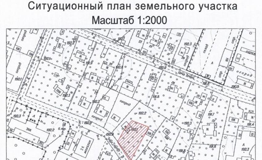 План расположения энергопринимающих устройств на участке земли