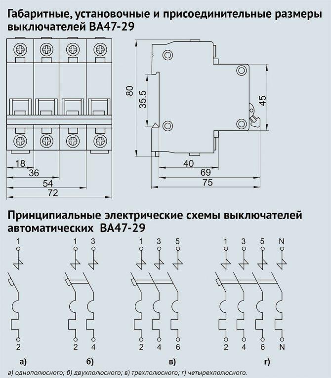 Двухполюсный и однополюсный автоматы — сравнение