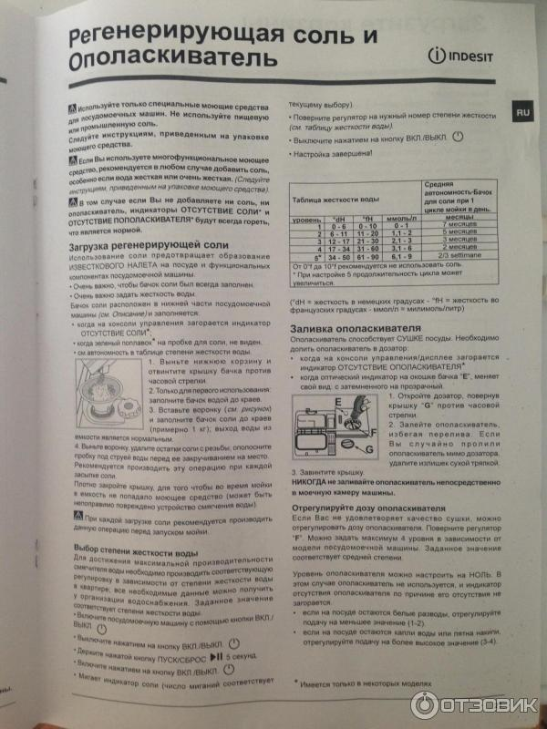 Проблемы эксплуатации посудомоечные машины indesit dsr 15b3