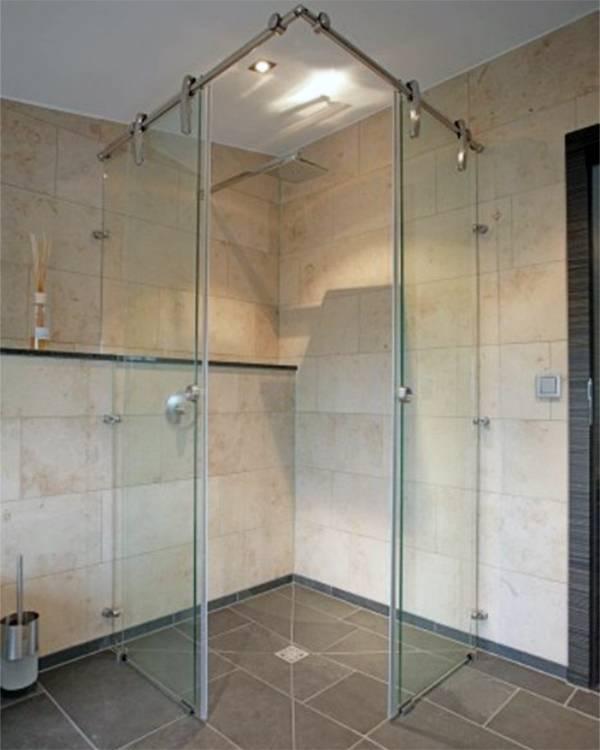Стеклянные двери и перегородки для ванной и душа разновидности, устройство, комплектующие, особенности монтажа и эксплуатации