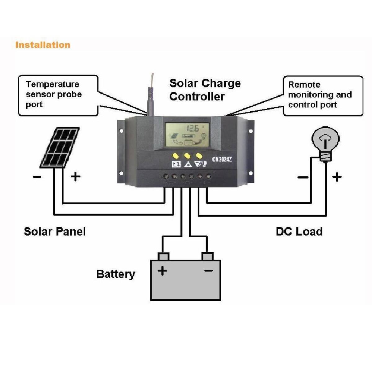 Схема подключения солнечных батарей: сборка системы с аккумулятором - точка j