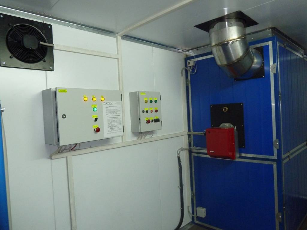 Газовое воздушное отопление производственных помещений