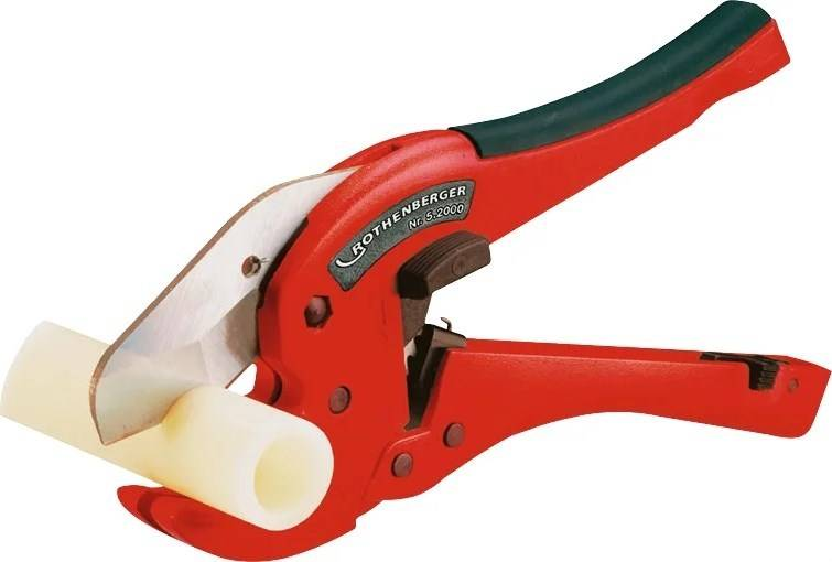 Ножницы для полипропиленовых и пластиковых труб: простая и фигурная резка