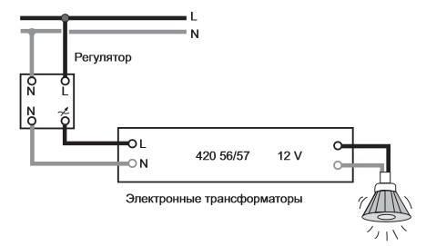 Трансформатор для светодиодных ламп 12 вольт: отличия от блока питания, назначение