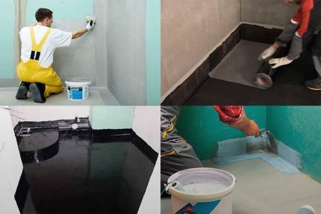 Гидроизоляция для ванной комнаты под кафель – выбираем и укладываем