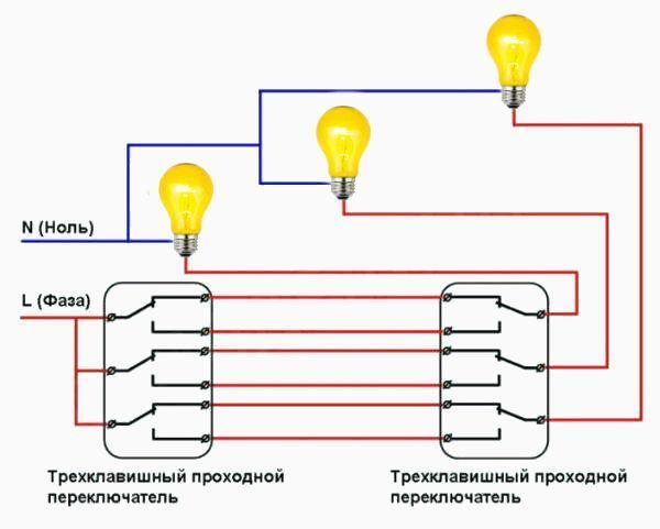 Трехклавишный выключатель: конструкционный особенности и порядок монтажа
