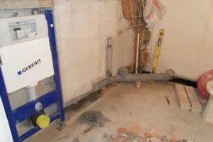 Ремонт в ванной: как перенести унитаз на другое