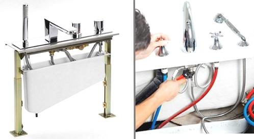 Установка смесителя в ванной своими руками: как правильно выполнить монтаж на стену и замену / zonavannoi.ru