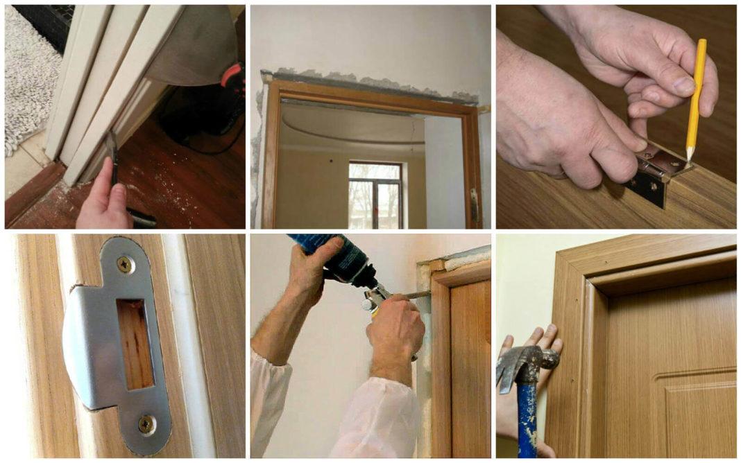 Подготовка и установка деревянной двери с коробом своими руками