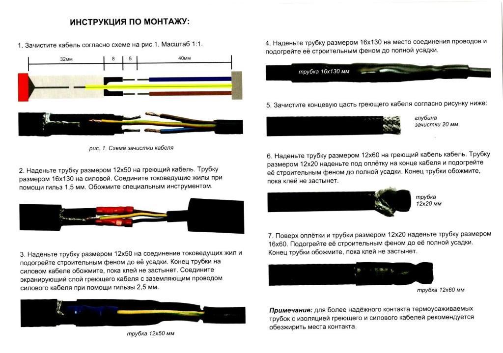 Прокладка греющего кабеля для обогрева труб: выбор, монтаж, подключение