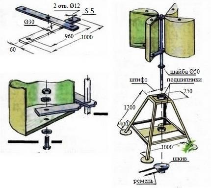 Как собрать ветрогенератор своими руками из стиральной машины