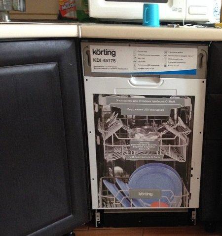 Сравнение встраиваемых посудомоек korting
