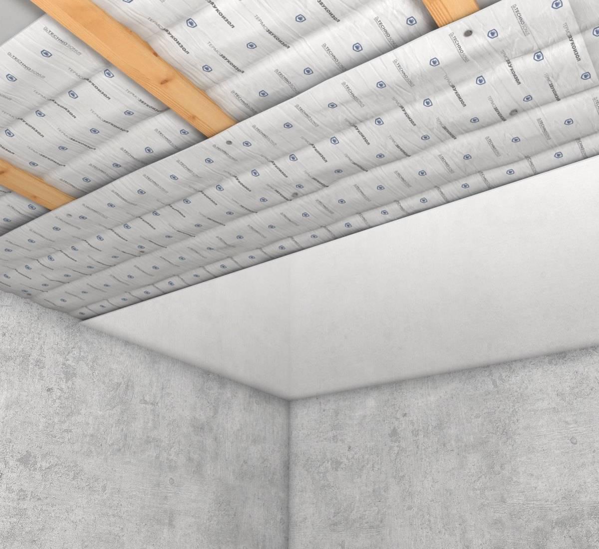 Шумоизоляция потолка в квартире под натяжной потолок: технология и этапы работ