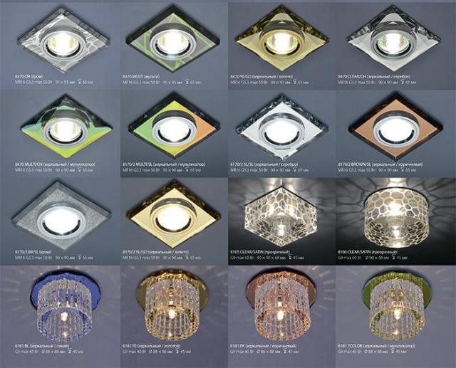 Выбираем светильники для натяжного потолка: лучшие варианты и цены