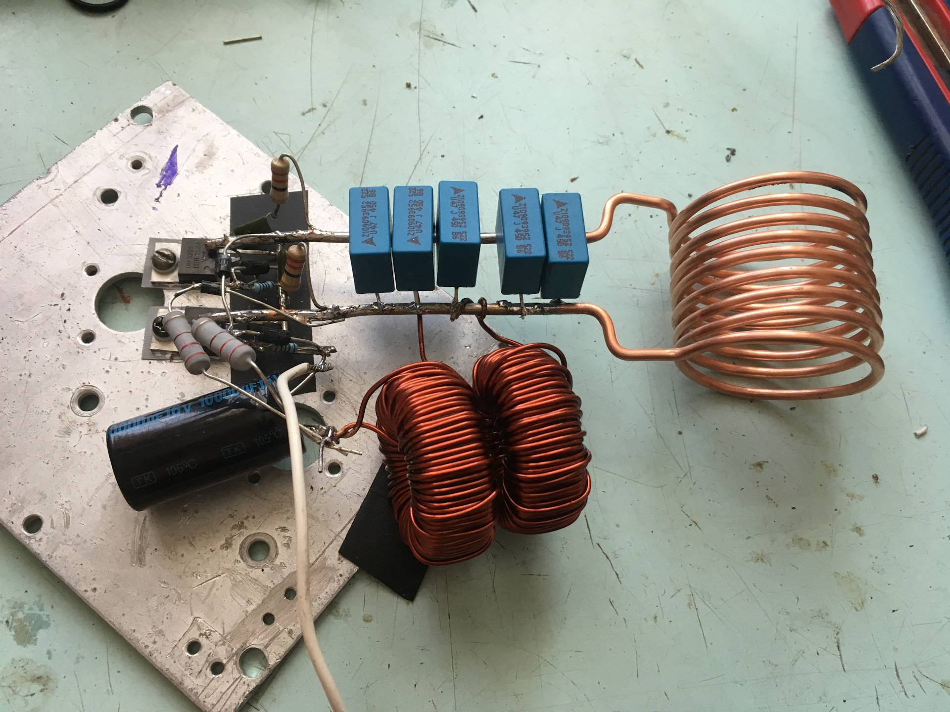 Индукционные нагреватели своими руками - из сварочного инвертора и не только, схема
