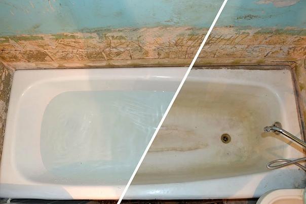 Чем и как заделать скол на эмалированной ванне своими руками — видео и фото