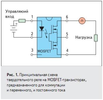 Твердотельное реле постоянного тока-устройство, схема