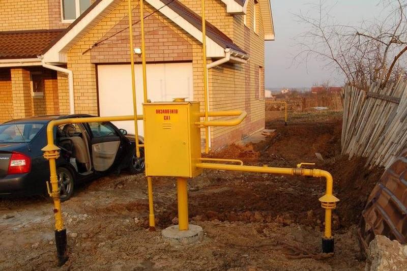 Подключение к газу частного дома