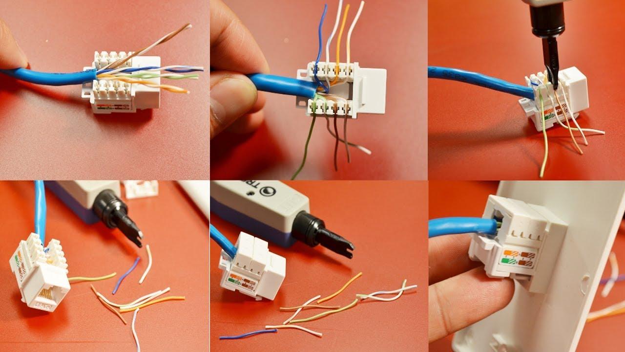 Как подключить сетевую розетку rj 45: схема, витая пара