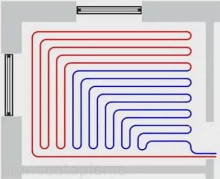 Какое расстояние между трубами теплого пола нужно делать – советы по монтажу