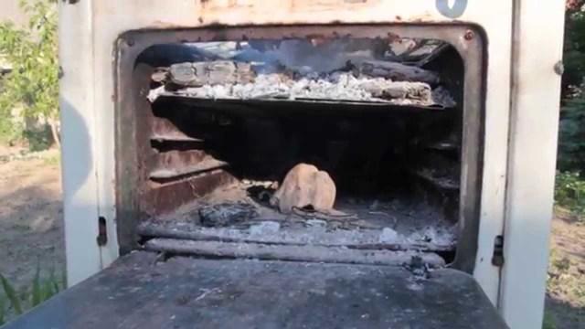 """Миниатюрная походная печка с наддувом """"airwood euro bm"""""""