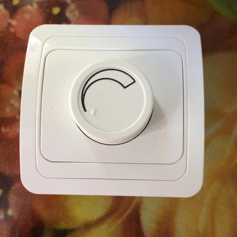 Подключение выключателя, оснащенного регулятором яркости