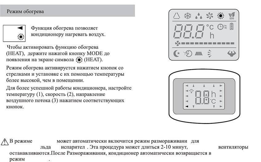 Как включить кондиционер на обогрев: принцип работы и устройство, как настроить агрегат на тепло