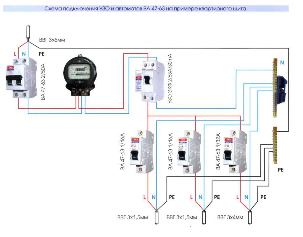 Правильное подключение автоматов в щитке - всё о электрике