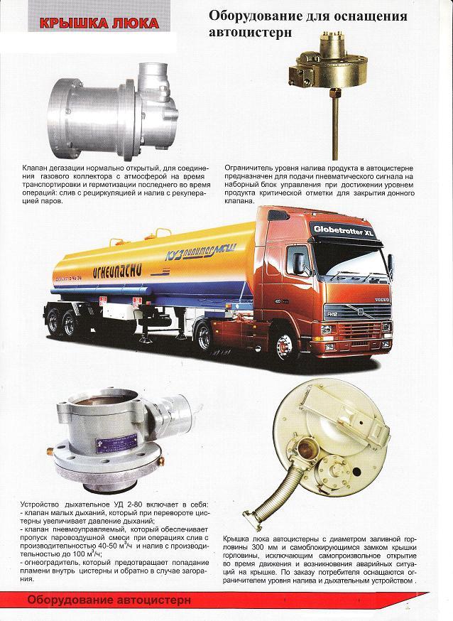 Донный клапан для цистерн бензовозов