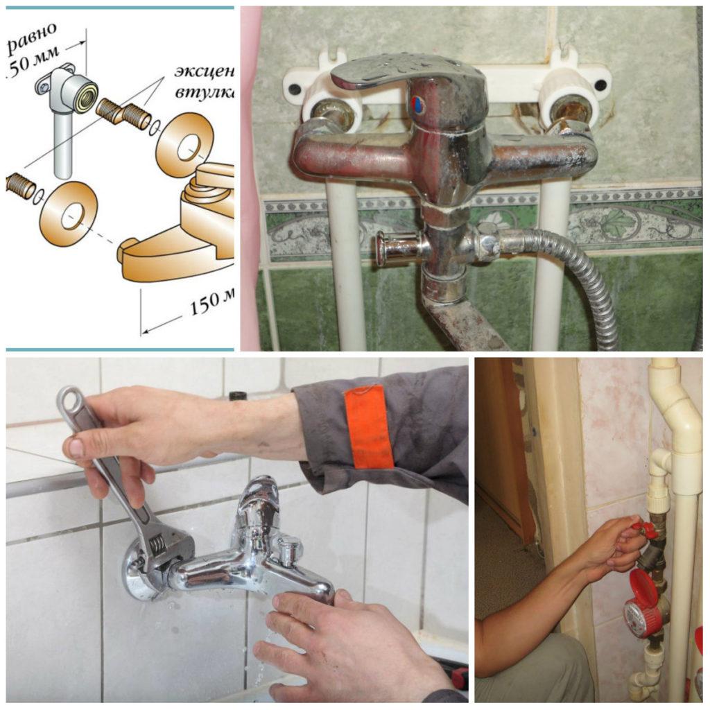 Установка смесителя в ванной: последовательность работ | ремонт и дизайн ванной комнаты