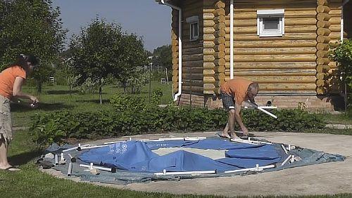 Обустройство каркасного бассейна на даче: правила монтажа, способы установки своими руками - 26 фото