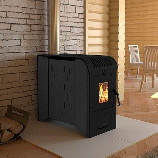 Универсальная печь на дровах и электричестве для дома