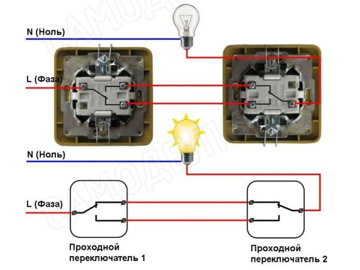 Монтаж двухклавишного выключателя света: пошаговая инструкция подключения и схемы подсоединения (125 фото + видео)