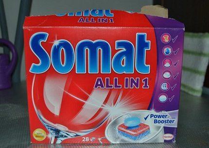 Таблетки для посудомоечной машины somat: 3 популярных варианта - classic, all in 1, gold