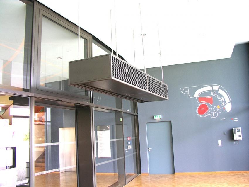 Тепловая завеса на входную дверь: принцип работы и установка