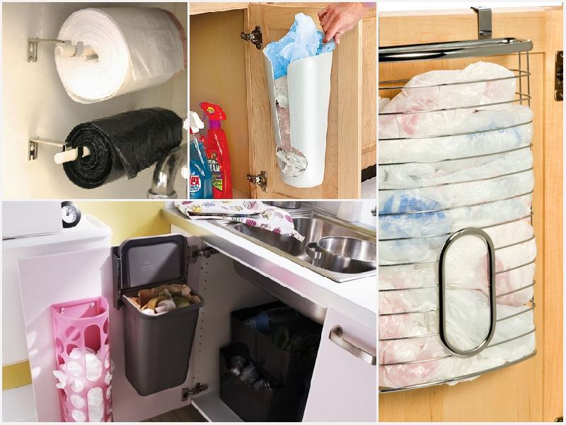 Как хранить пакеты на кухне: идеи, в бутылке, коробке и не только
